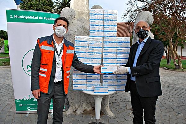 SCL Nuevo Pudahuel donación mascarillas a Pudahuel (Nuevo Pudahuel)