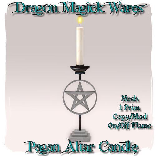 Pagan Altar Candle