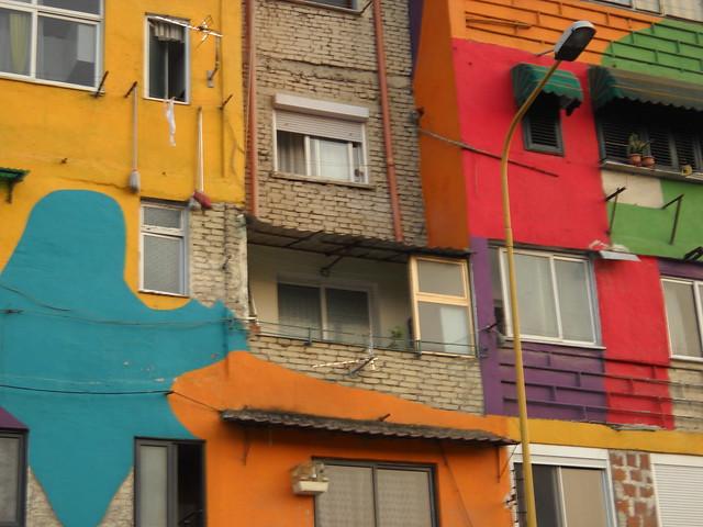 colored facade