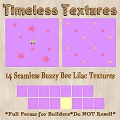 TT 14 Seamless Buzzy Bee Lilac Timeless Textures