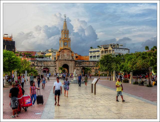 Ciudad Amurallada, el centro histórico de Cartagena de la época colonial