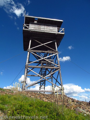 The Berray Mountain Lookout from below, Cabinet Mountain Wilderness, Montana