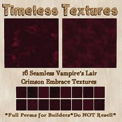 TT 16 Seamless Vampire's Lair Crimson Embrace Timeless Textures