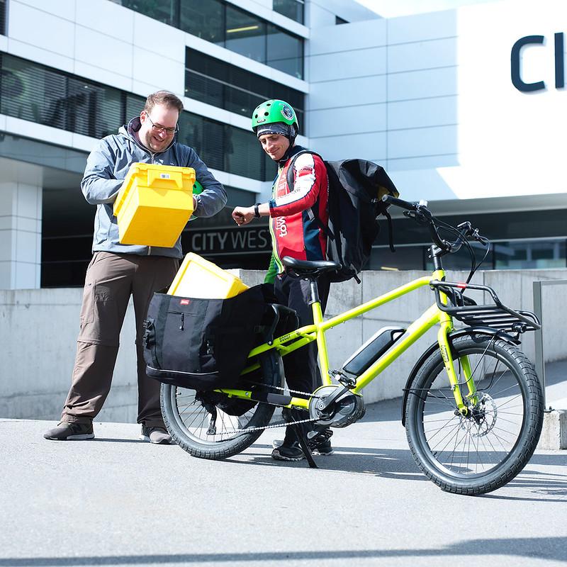 Benno Bikes Boost E cargo ebike in Zurich 22