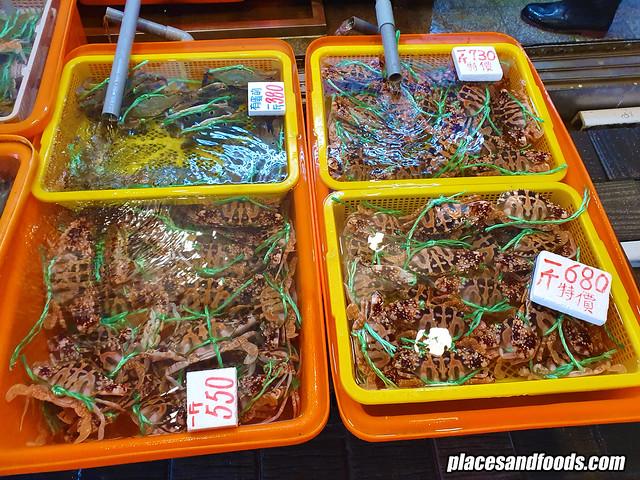guihou fish market wanli live crabs