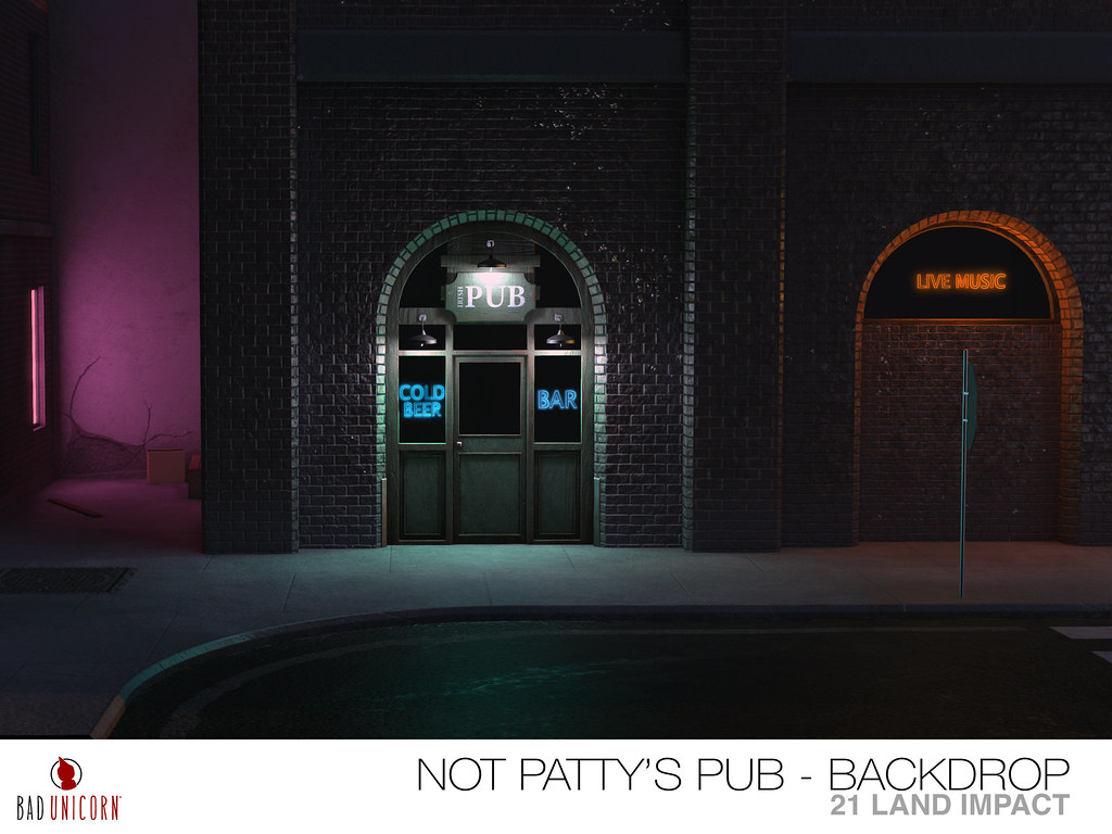 NEW! Neon Nights – Not Pattys Pub Backdrop