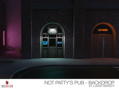 NEW! Neon Nights - Not Pattys Pub Backdrop