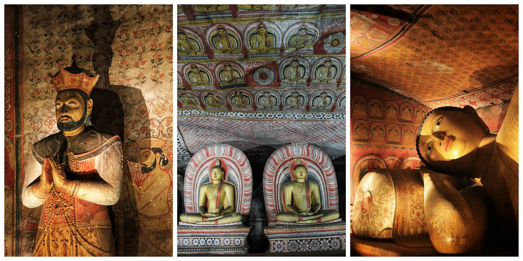 Buddha images and statues, Dambulla Cave Temple, Sri Lanka