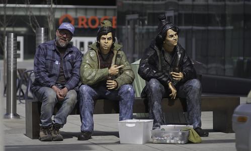 strangers bob mckenzie doug edmonton alberta canada sctv comedy statue downtown fujifilm lens xh1 fujinon