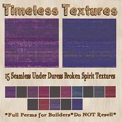 TT 15 Seamless Under Duress Broken Spirit Timeless Textures