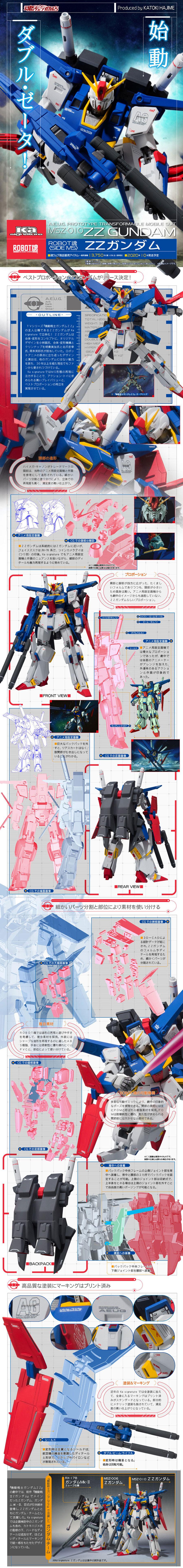 全新洗鍊再登場!ROBOT魂(Ka signature)<SIDE MS>《機動戰士ZZ鋼彈》MSZ-010 ZZ鋼彈(ZZガンダム)
