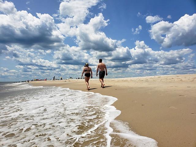 Sue And John On The Beach