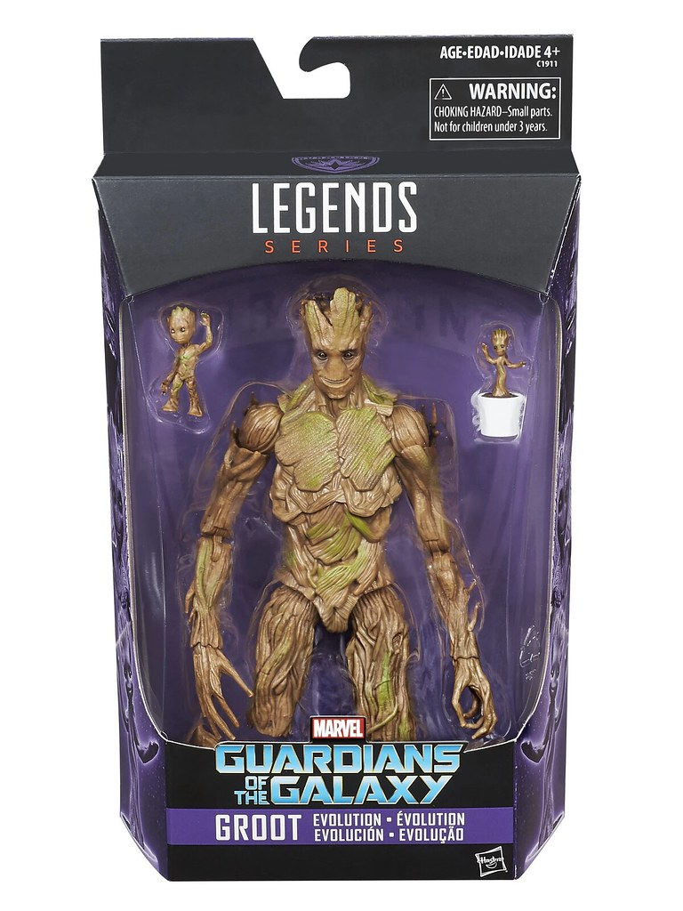 三種格魯特一次滿足! Hasbro 漫威傳奇系列《星際異攻隊》格魯特進化包(Groot Evolution Pack)可動人偶