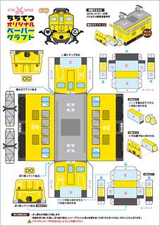 ペーパークラフト☆電気機関車(EL502)