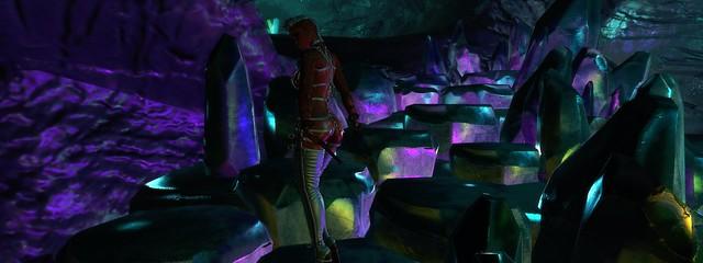 Diamond crystal cave
