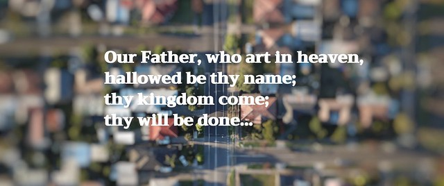 Pray the Lord's Prayer on your doorstep