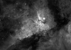 The Heart of the Carina Nebula in H-alpha