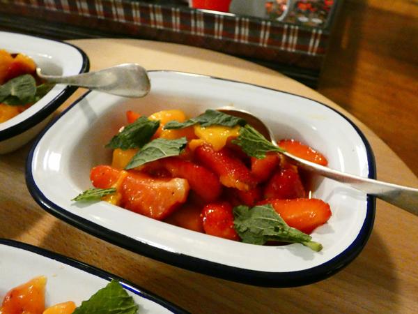 fraises et mangues