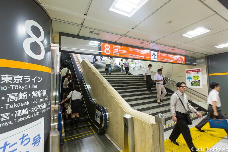 Acceso a andenes de líneas convencionales en la estación de Tokio