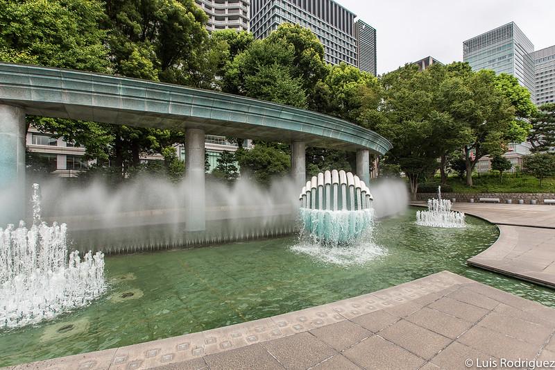 parque de la fuente Wadakura, cerca de la estación de Tokio
