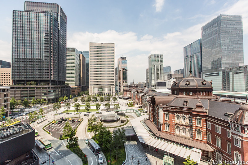 Estación de Tokio desde el edificio Kitte