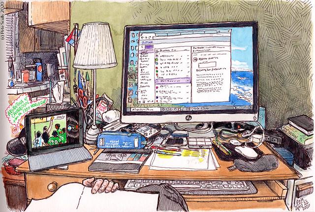 Desk sketch 042220