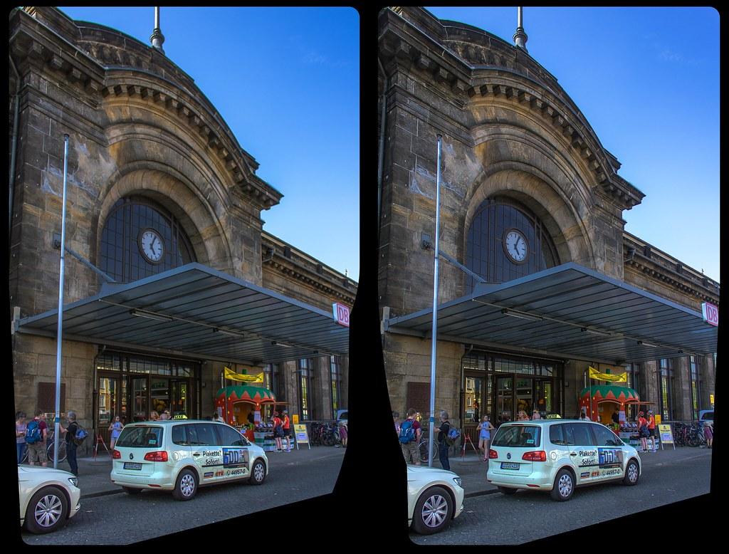 Bahnhof Dresden-Neustadt 3-D / CrossView / Stereoscopy