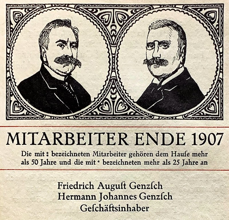 Hermann Johannes Genzsch (left) and Friedrich August Genzsch (right)