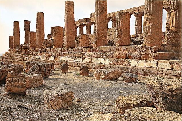 Temple d'Héra, vallée des temples, Agrigente, Sicile, Italie