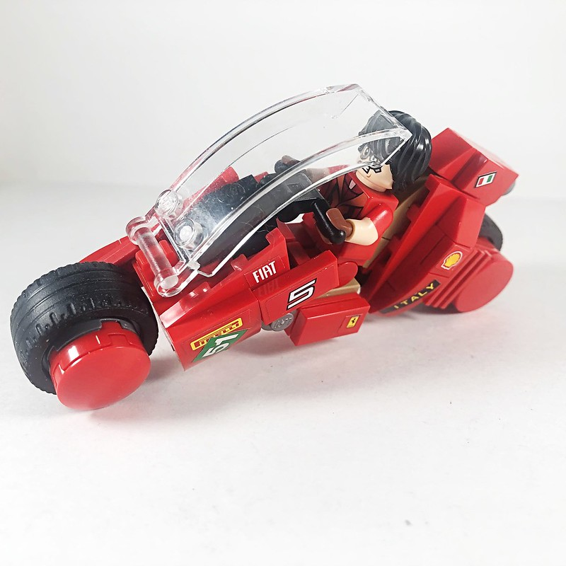 """CHIARA""  2021 Fiat Concept motor bike, inspired by the anime ""Akira.""  #Lego #LegoMoc #PL47 #ProjectLotus47 #Akira #ConceptBike #Fiat"