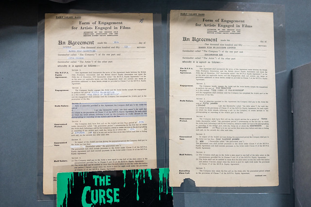 Hammer contracts for Peter Cushing and Christopher Lee
