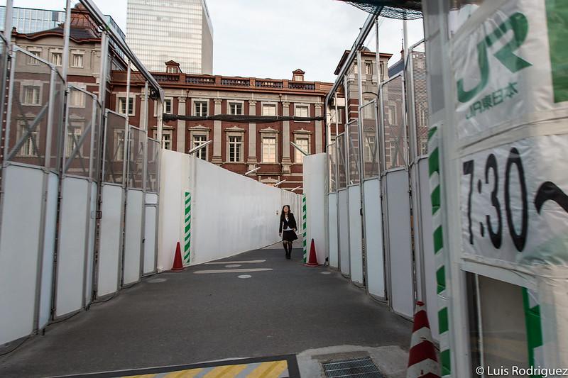 Estación de Tokio en proceso de renovación y restauración