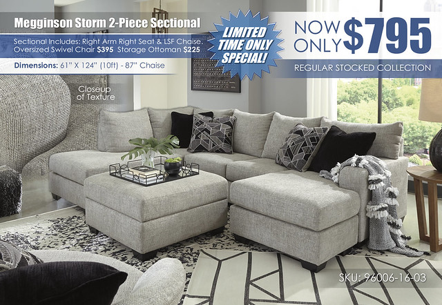 Megginson Storm 2-PC Sectional_LSF Chaise_Update_96006-16-03