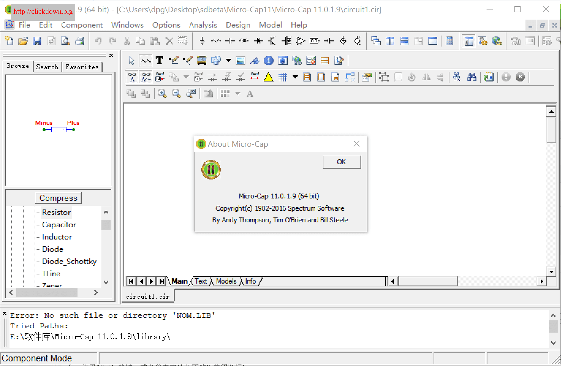 Working with Micro-Cap 11.0.1.9 x64 full license