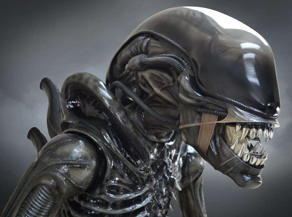 Hollywood Collectibles Group《異形》「異形(Alien) Big Chap」1:1 比例全身雕像 普通版/HCG限定版