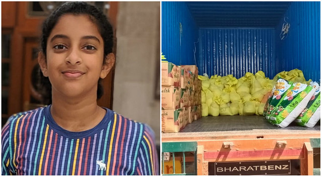 5596 11-year-old girl in India raised Rs 940,000 for the daily wage workers 02