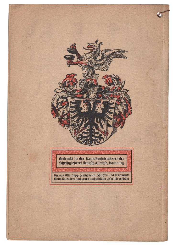 Hamburger Kalender für das Buchgewerbe 1904 (back cover)