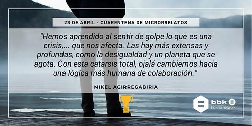 """Microrrelato ganador el 23 abril en """"Creatividad en tiempo de coronavirus"""""""