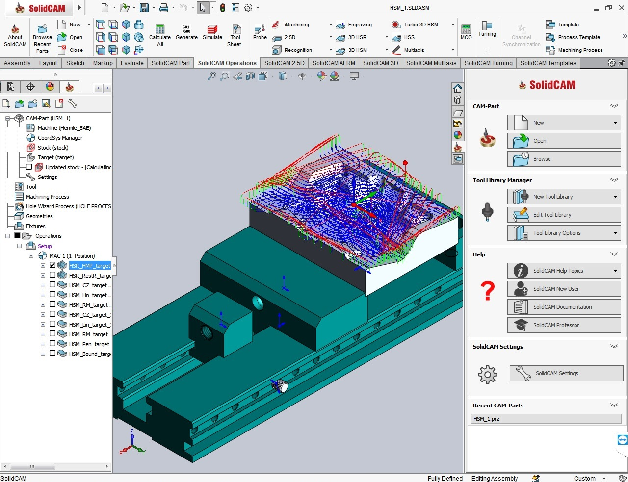 Working with SolidCAMCAD 2020 SP1 Standalone full license