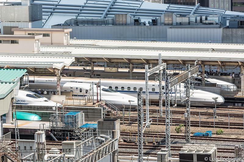 Trenes bala en la estación de Tokio