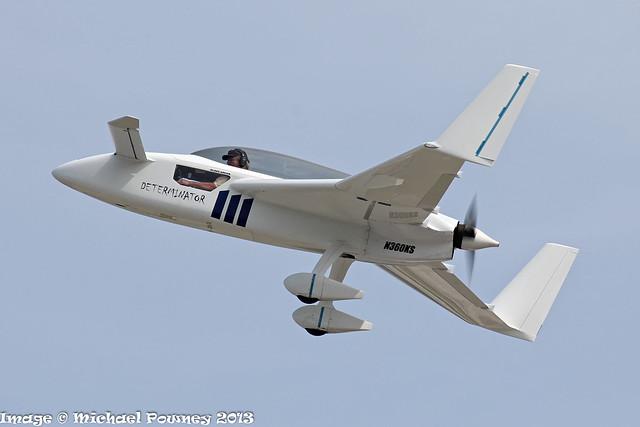 N360KS - 2010 build Rutan Long-Ez, departing from Lakeland during Sun 'N Fun 2013