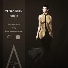 .AiShA. Venus Dress Gold @FF 2020