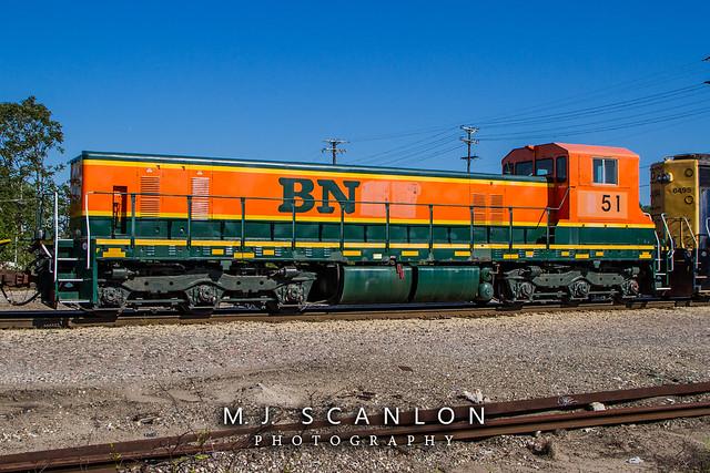 BN 51   EMD TEBC6 Slug   CN Memphis Subdivision