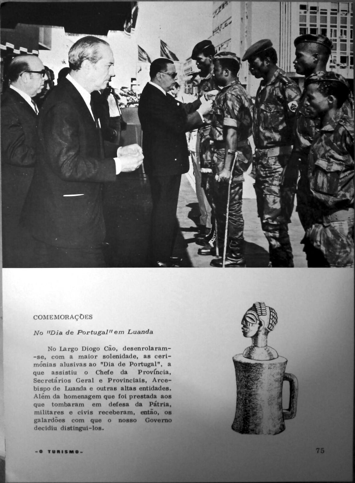 Comemorações no Dia de Portugal em Luanda («O Turismo, C.I.T.A., Junho de 1971)