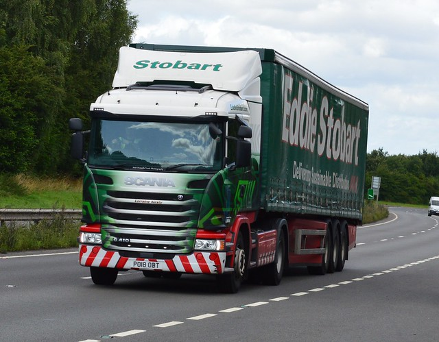 Eddie Stobart PO18 OBT (Lorraine Kirsty) On the A5 At Shrewsbury