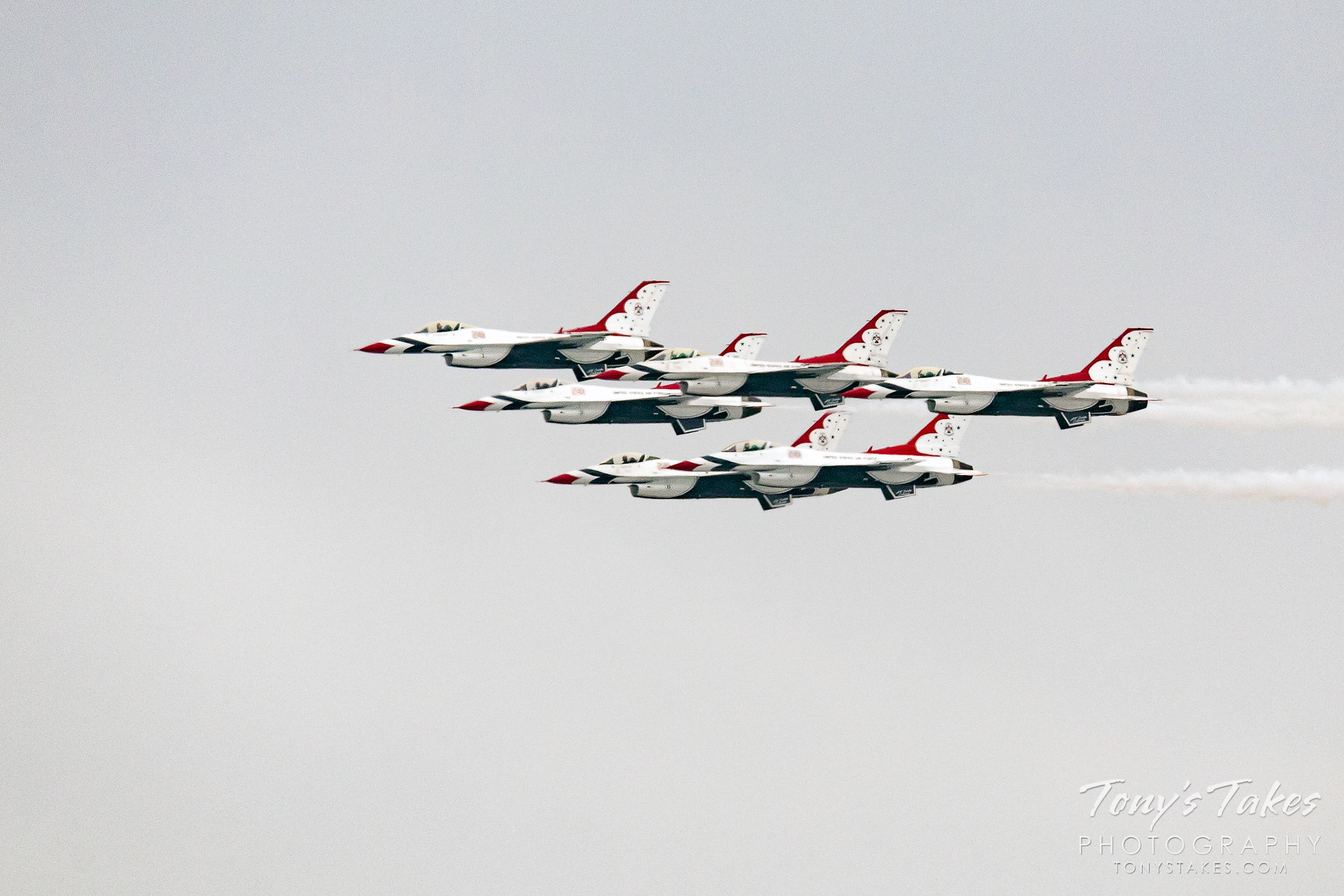The Air Force Thunderbirds fly over the Denver metro area to thank front line responders. (© Tony's Takes)