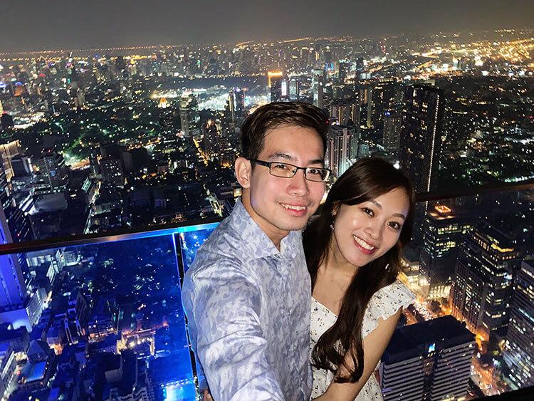 stunning sky bar in Bangkok Thailand
