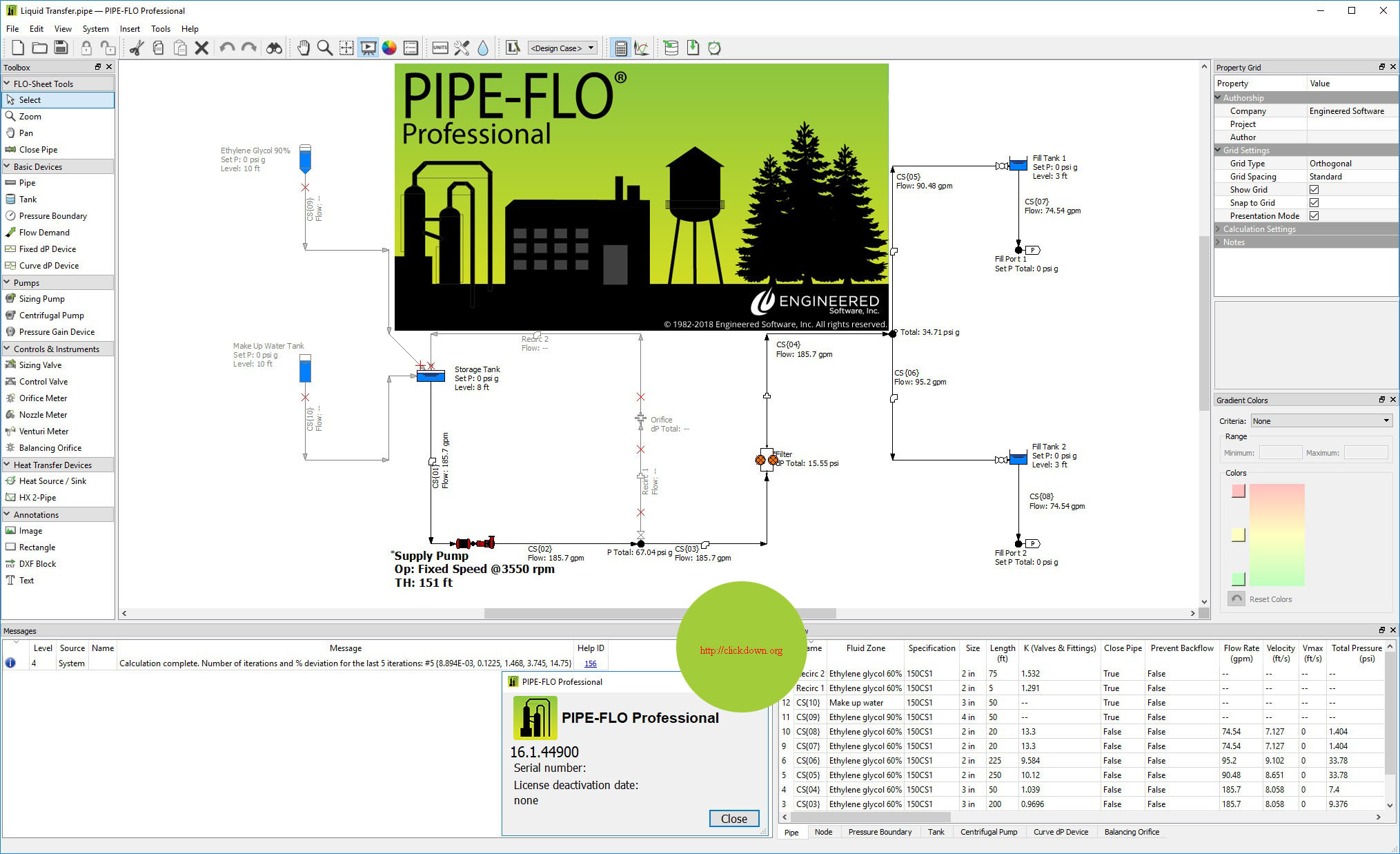Working with Engineered Software PIPE-FLO Pro 2018 v16.1.44900 full license