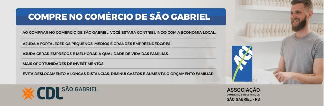 Compre no Comércio local - Uma campanha CDL e ACI São Gabriel