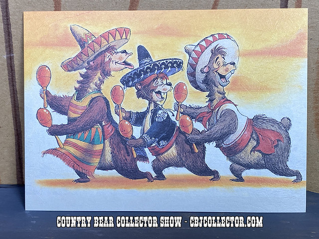 Vintage Tokyo Disneyland Country Bear World Tour Mexico Postcard - CBCS #253